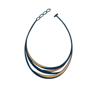 Swell Necklace Blue & Gold