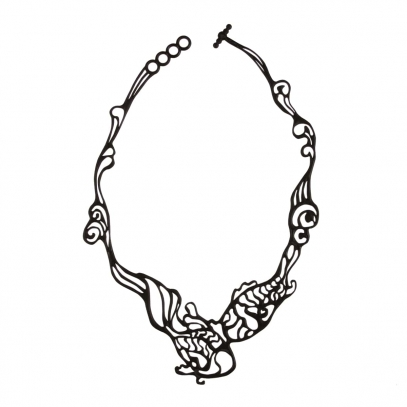 Fish Necklace Black