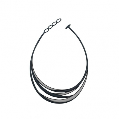 Swell Necklace Black & Silver