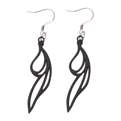 Drops Earrings Black
