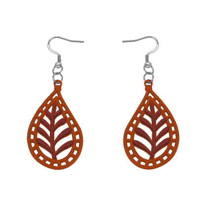 India Earrings Caramel