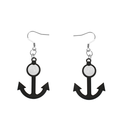Marina Black Earrings