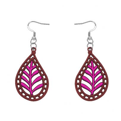 India Earrings Pink