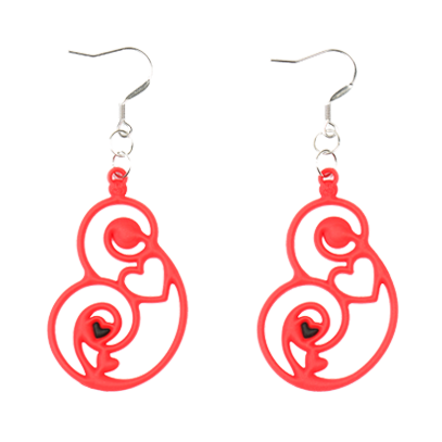Passion Earrings Red