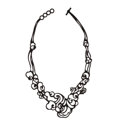 Collier Cloud Noir