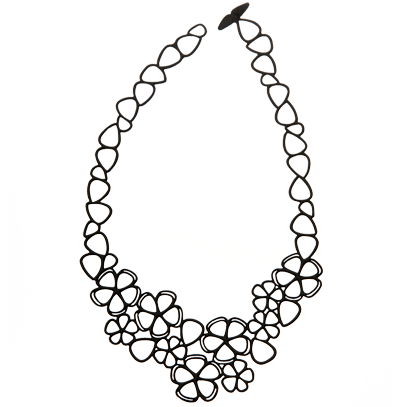 Collier Sweer Flower Noir