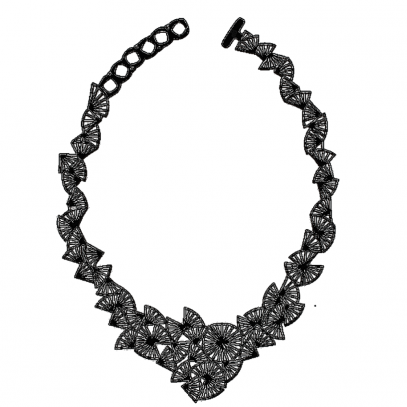 bijoux collier noir
