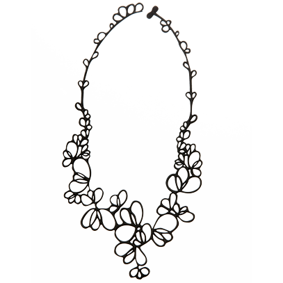 Petals Necklace Black