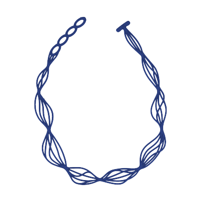 Collier Waves Bleu