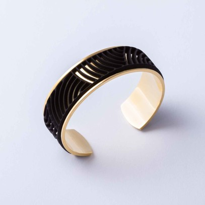 Sun Gold Plated Cuff + 3 accents